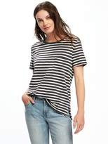 Old Navy Boyfriend Slub-Knit Pocket Tee for Women