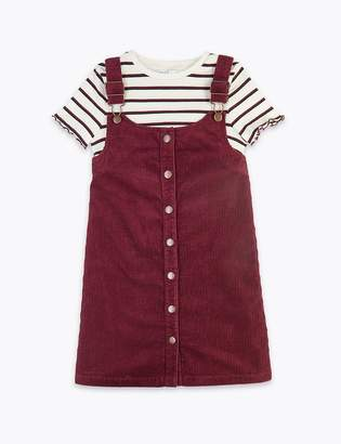 Marks and Spencer 2 Piece Cord Pinafore Dress Outfit (3-16 Years)