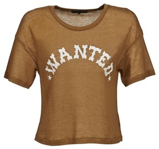 American Retro FRED CROPPED women's T shirt in Brown