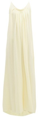 Loup Charmant Gather Cotton-gauze Maxi Dress - Womens - Yellow