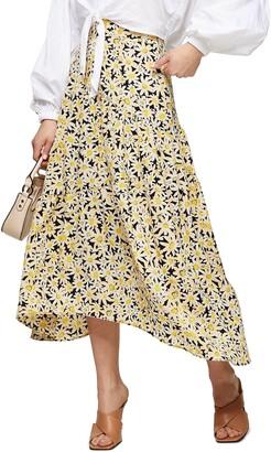 Topshop Daisy Tiered Midi Skirt