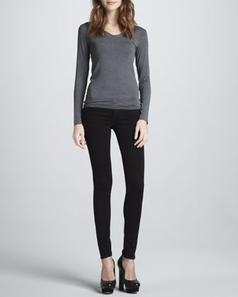 J Brand Jeans Mid-Rise Skinny Ankle Jeans, Eclipse