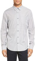 Vince Men's Trim Fit Distressed Stripe Sport Shirt