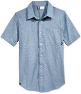 Lrg Men's Defender Chambray Fleck Short-Sleeve Shirt