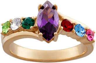 FINE JEWELRY Personalized Sterling Silver Simulated Birthstone Ring