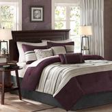 Madison Park Palmer Comforter Set California King Plum