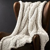 Crate & Barrel Cozy Knit Ivory Throw