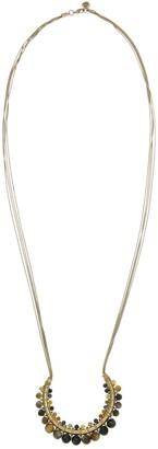 The Sak Tiger's Eye Bead Wrapped Pendant Multi Strand Necklace
