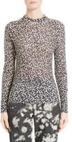 Women's Victor Alfaro Silk & Cashmere Animal Print Mesh Top