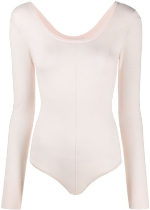 Forte Forte Long-Sleeve Fitted Bodysuit