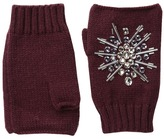 San Diego Hat Company KNG3397 Fingerless Gloves with Handstitched Faux Gems Extreme Cold Weather Gloves