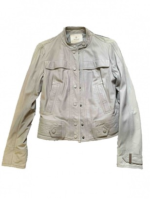 Bally Grey Leather Jacket for Women
