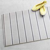 Crate & Barrel Grey Stripe Floor Mat.