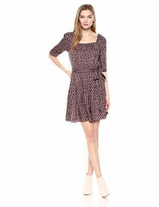 Rebecca Taylor Women's 3/4 Sleeve Drop Waist Dress