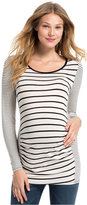 Jessica Simpson Maternity Striped Ruched Top