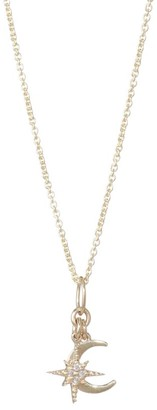 Sydney Evan Diamond and 14K Gold Celestial Duo Pendant Necklace