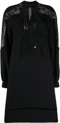 Alberta Ferretti Lace-Detail Shift Dress