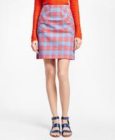Brooks Brothers A-Line Cotton Plaid Skirt