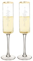 Cathy's Concepts Hubby/wifey Set Of 2 Champagne Flutes