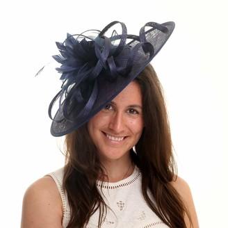 Jane Anne Designs Penelope Disc Fascinator - Navy Blue 1-Size
