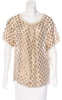 DAY Birger et Mikkelsen Metallic Embroidered Top