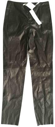 Les Chiffoniers Black Leather Trousers for Women