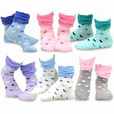 TeeHee Kids Girls Cotton Crew Ruffle Top Socks 6 Pair Pack (12-24M, )