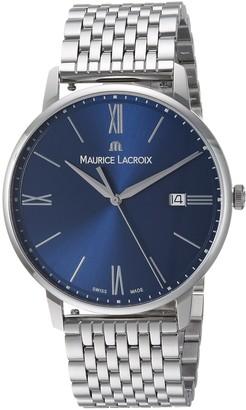 Maurice Lacroix Men's Eliros Swiss Quartz Watch with Stainless-Steel Strap