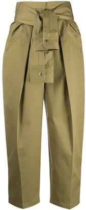 Alexander Wang Forest Green Tie Waist Trouser