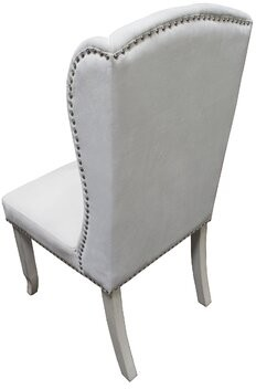House of Hampton Boucher Wingback Dining Chair Upholstery Color: Beige