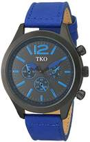 rugged watches for men shopstyle tko men s matte black case rugged aviator watch blue leather military watch tk650bl