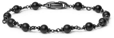 David Yurman Blackened Sterling Silver And Onyx Bracelet
