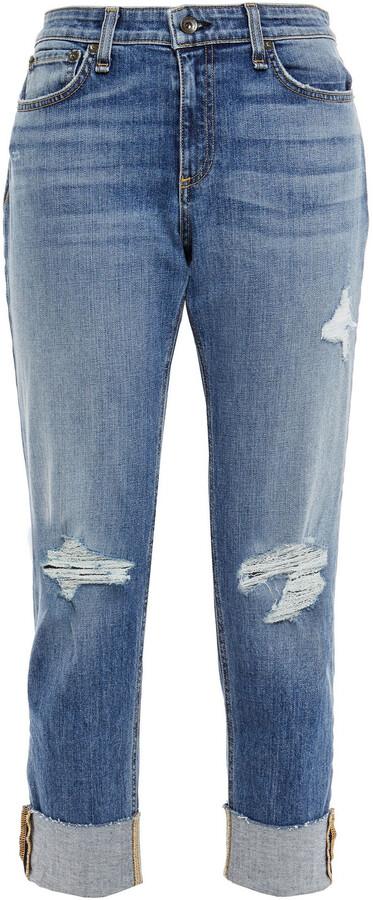 Thumbnail for your product : Rag & Bone Dre Distressed Slim Boyfriend Jeans