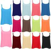 Trendy-Clothings Womens Ladies Cami Strappy Plain Basic Swing Vest T Shirt Top