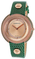Versace VA709-0014 Women's Thea Diamond Green Genuine Lizard Rose-Tone Dial