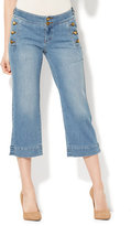 New York & Co. Soho Jeans - Cropped Wide Leg - Galaxy Blue Wash