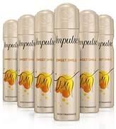 Impulse Sweet Smile Body Spray 75 ml - Pack of 6