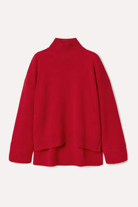 Rosetta Getty Oversized Cashmere Turtleneck Sweater - Red