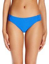 Trina Turk Women's Riviera Shirred-Side Hipster Bikini Bottom