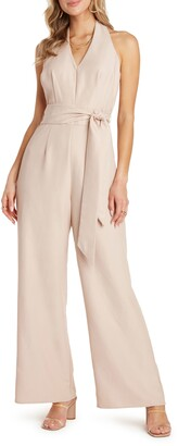 Willow Victor Halter Neck Tie Waist Jumpsuit