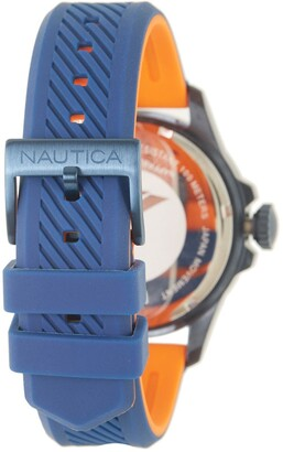 Nautica Men's Freeboard Silicone Watch, 44mm