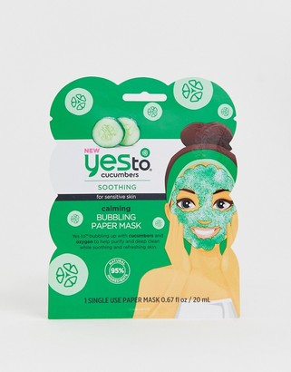 Yes To Cucumbers Calming Bubbling Face Mask (Single Use)-No Color