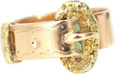 One Kings Lane Vintage Antique Two-Tone Gold Buckle Ring