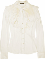 Georgian pleat ruffle blouse