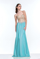 Terani Couture 151P0027A Strapless Embellished Chiffon Long Gown