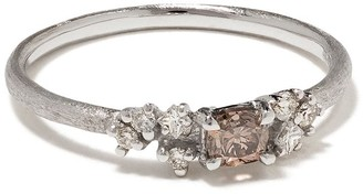 White Bird 18kt white gold diamond Aurore VI ring