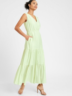 Banana Republic Petite Organic Cotton-TENCEL Maxi Dress