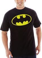 JCPenney Novelty T-Shirts Batman Shield Graphic Tee-Big & Tall