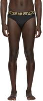 Versace Underwear Black Greek Key Swim Briefs