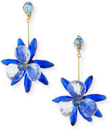 Kate Spade Crystal Flower Drop Earrings